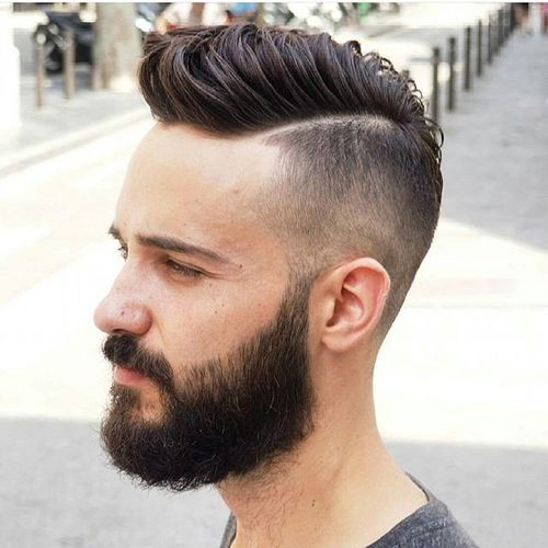 hipster long top hairstyle with beard