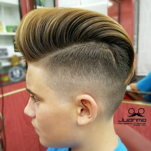 Boys Hairstyles alan_beak_spiky hairstyles for boys Long Top Short Sides Hairstyle For Boys