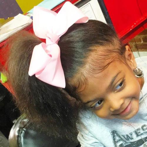 Natural Ponytail For Little Girls