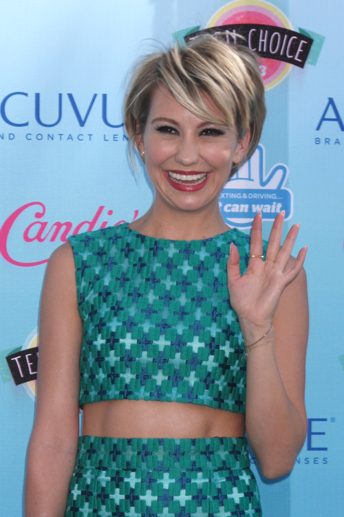 Chelsea Kane short layered haircut for straight hair