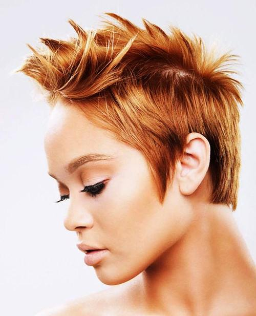 short red fauxhawk for women
