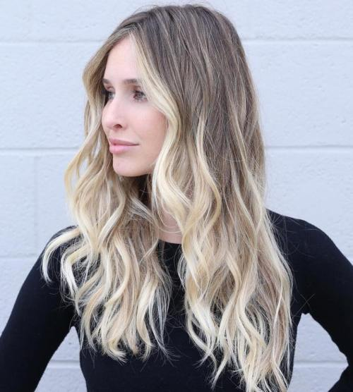 Brown Blonde Balayage For Long Hair
