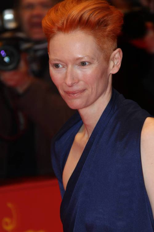 Tilda Swinton short red hairstyle