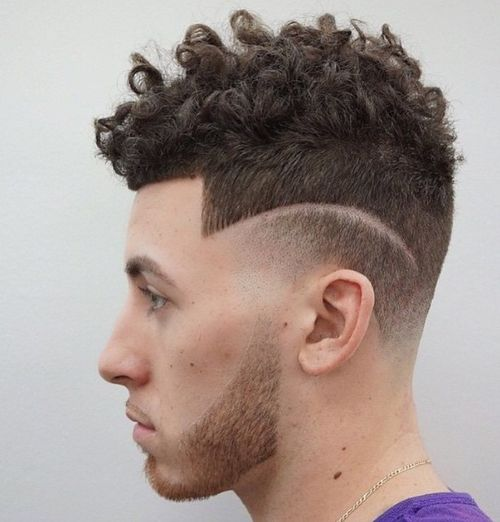 curly undercut hairstyle for men