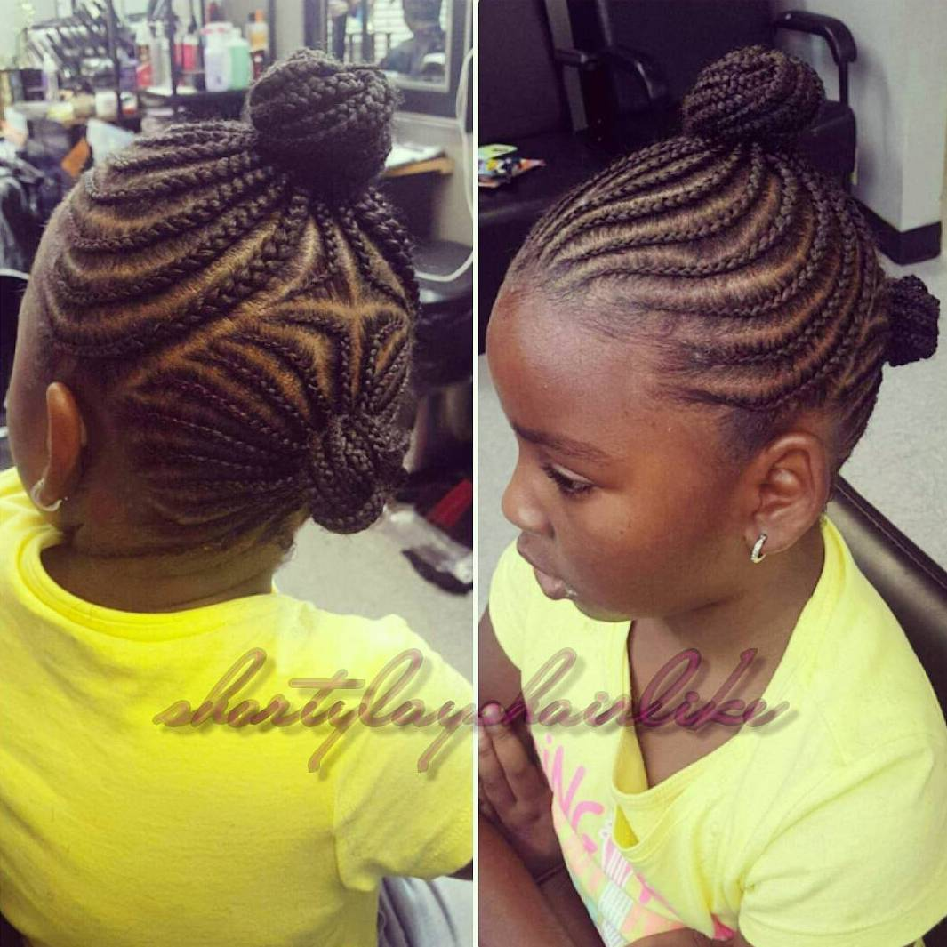 Natural braided hairstyles for little girls