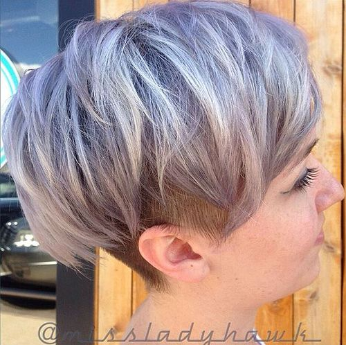 women's blonde undercut hairstyle