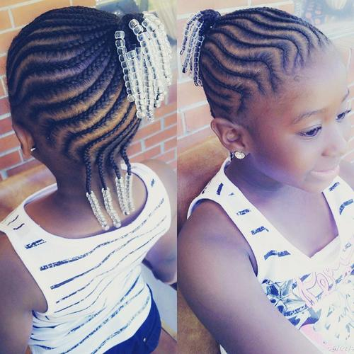 cornrows into pony hairstyle