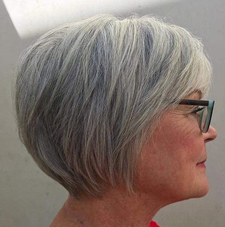 short hairstyles for fine straight hair over 60  up to 76
