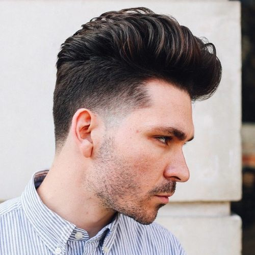 Tapered Pompadour Hairstyle