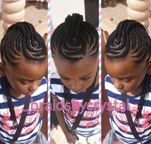 Braid Hairstyles For Kids kids braiding hairstyle little black kids braids hairstyles picture Braided Mohawk For Black Girls