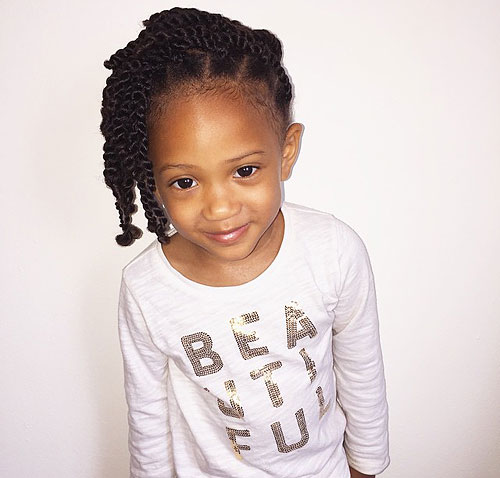 twist hairstyle for little black girls