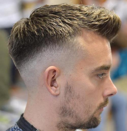 Quiff With Fade Hairstyle
