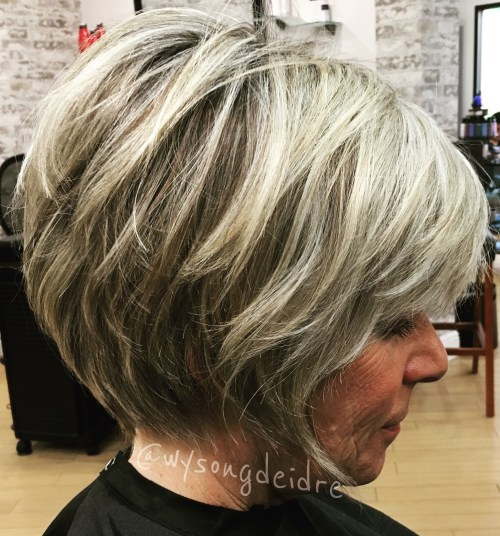 White Bronde Feathered Bob