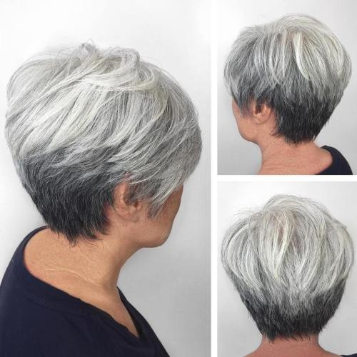 Gray Stacked Pixie Bob