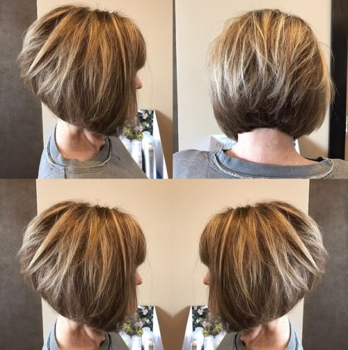 Inverted Bob With Blonde Highlights
