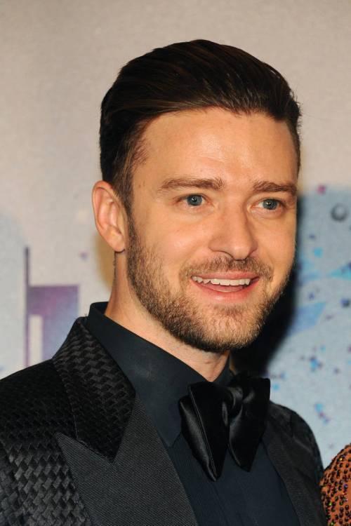 Justin Timberlake short sleek hairstyle for guys