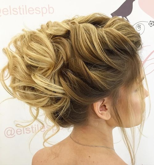 40 gorgeous wedding hairstyles for long hair voluminous bridal updo for long hair junglespirit