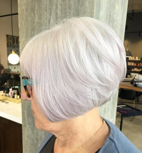 Silver Bob Hairstyle For Women Over 70