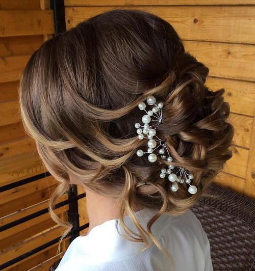 40 chic wedding hair updos for elegant brides loose curly updo for wedding junglespirit