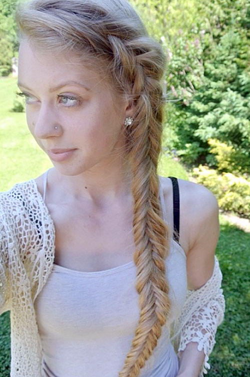 side fishtail hairstyle