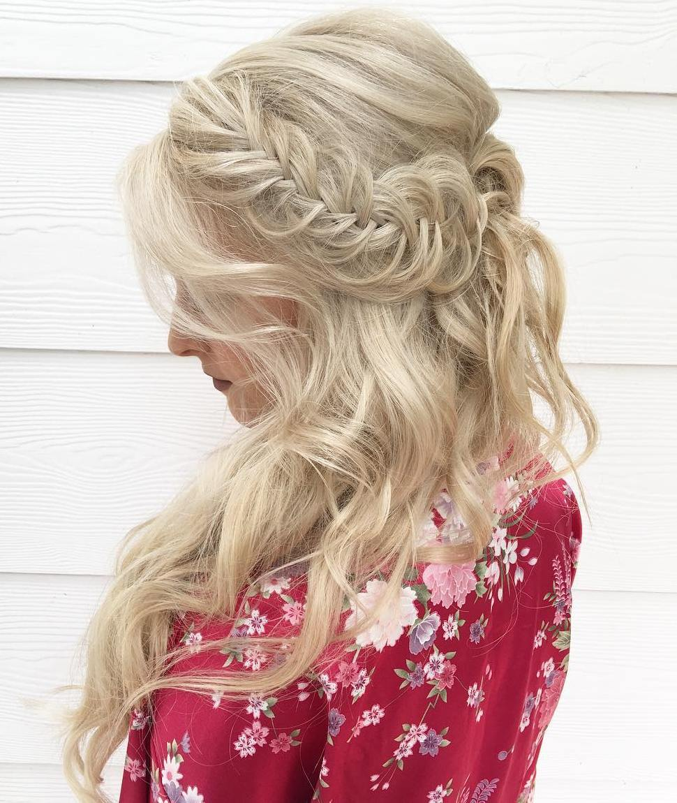 Messy Braided Half Updo