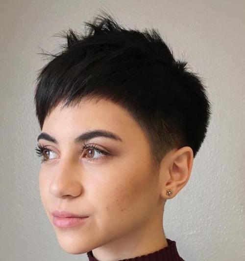 pixie haircuts thick hair