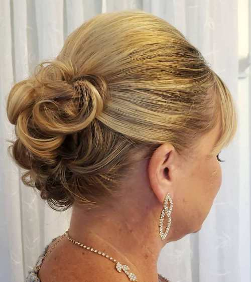 Updo With Bangs For Mother Of The Bride