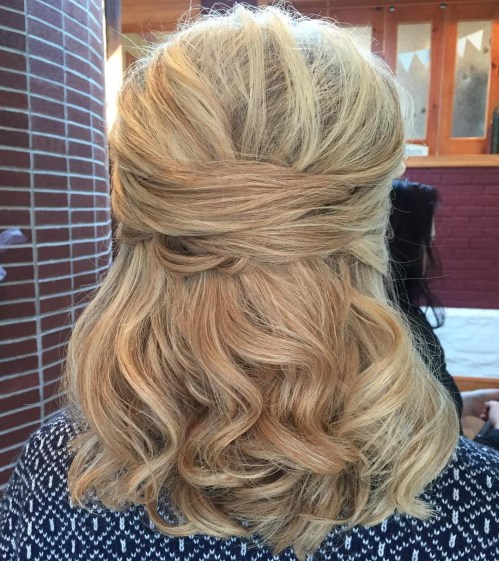 Half Up Half Down Mother Of The Groom Hairstyle