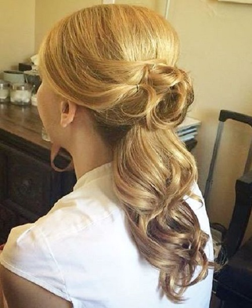wedding half up hairstyle with ombre