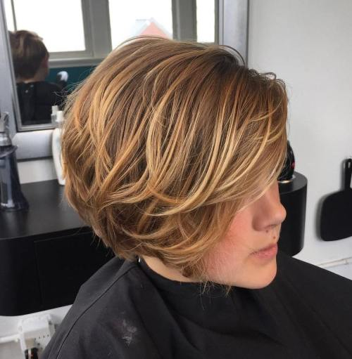 Honey Blonde Balayage Bob For Girls