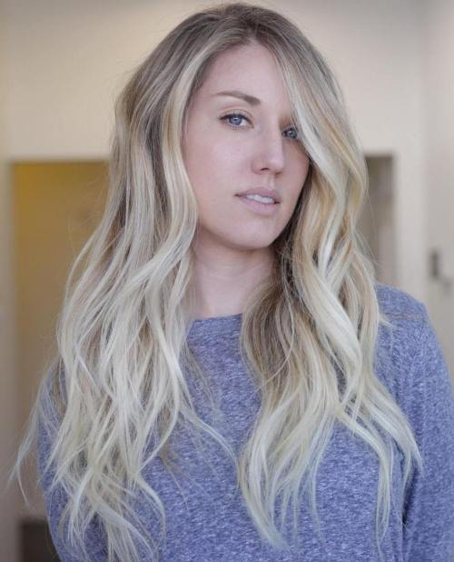 Wavy Blonde Balayage Hairstyle