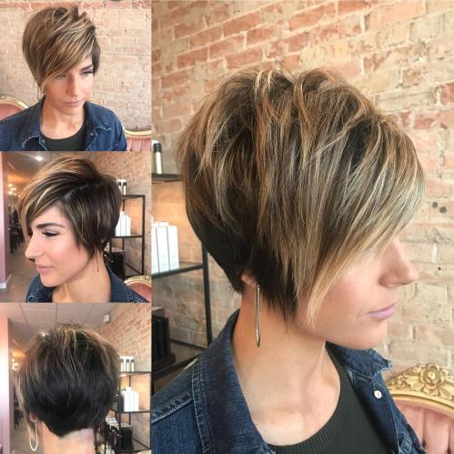 Long Pixie For Thick Hair And Round Faces