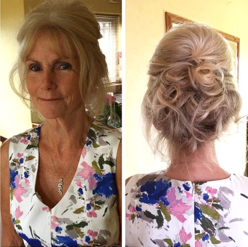 Up styles for long hair for wedding guest dresses