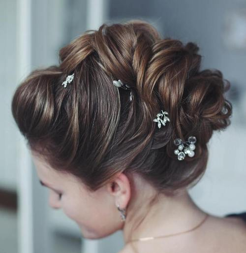 mohawk wedding updo