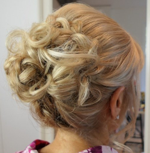 Curly Messy Updo