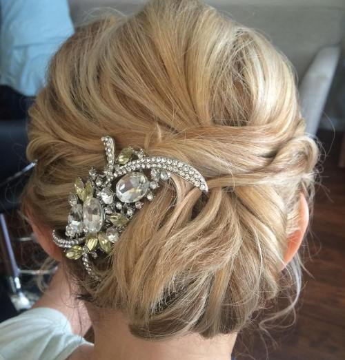 Wedding Chignon For Medium Hair