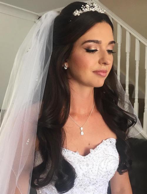 Incredible Half Up Half Down Wedding Hairstyles 50 Stylish Ideas For Brides Short Hairstyles Gunalazisus
