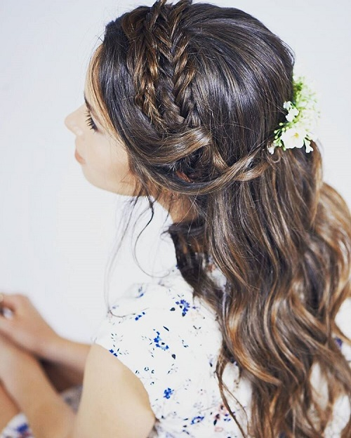 double braid half updo