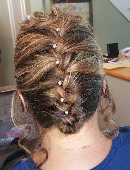 Simple Braided Updo For Shorter Hair