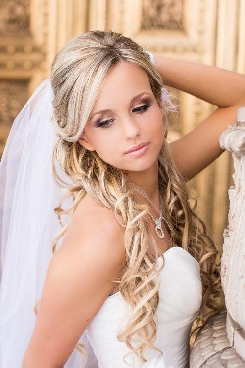 Tremendous Half Up Half Down Wedding Hairstyles 50 Stylish Ideas For Brides Hairstyles For Women Draintrainus