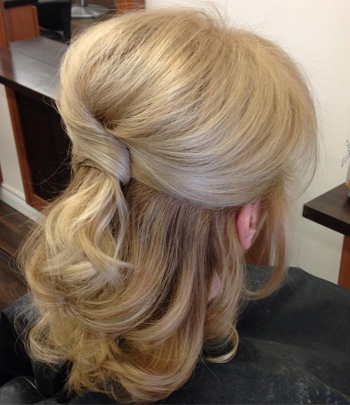 Medium Length Wedding Hairstyles: Half Up Half Down Wedding Hairstyles