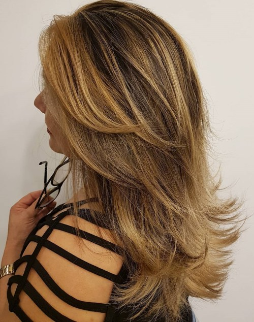 Layered Cut For Mid-Back Hair