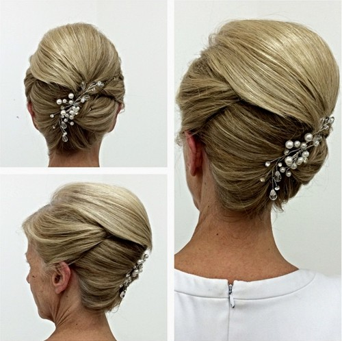 Mother Of The Bride Updo With A Bouffant