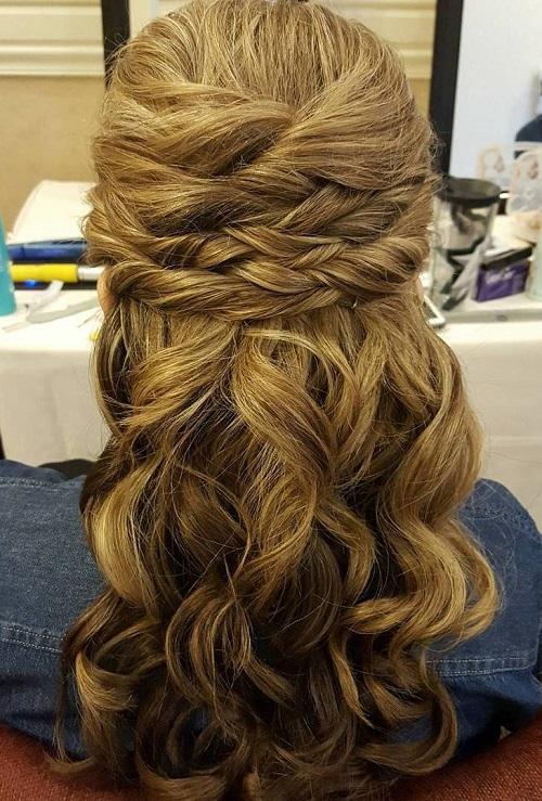 Terrific Half Up Half Down Wedding Hairstyles 50 Stylish Ideas For Brides Short Hairstyles For Black Women Fulllsitofus