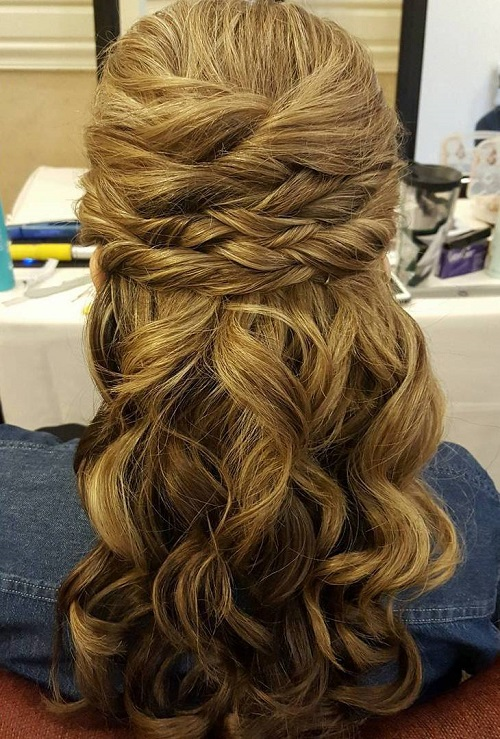 Admirable Half Up Half Down Wedding Hairstyles 50 Stylish Ideas For Brides Short Hairstyles For Black Women Fulllsitofus