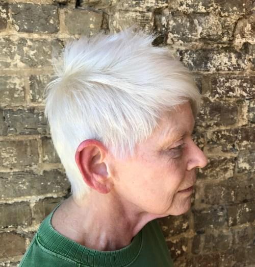 70+ White Spiky Pixie for Straight Hair