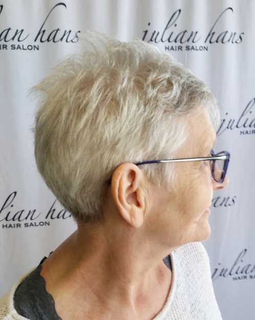 Over 70 Very Short Gray Haircut