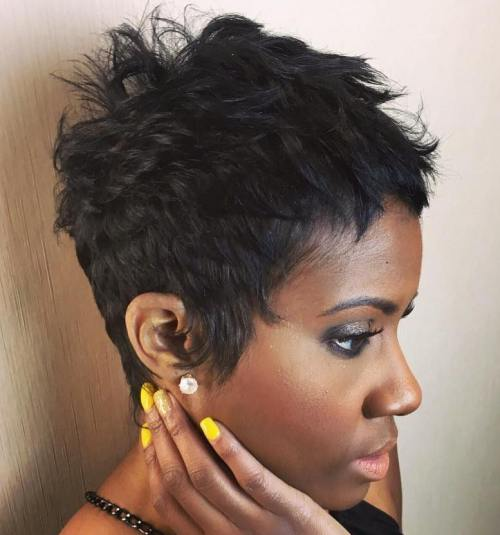 Short Choppy Pixie For Black Women