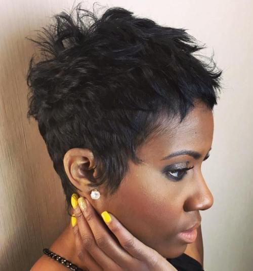 Short Choppy Pixie For Black Women