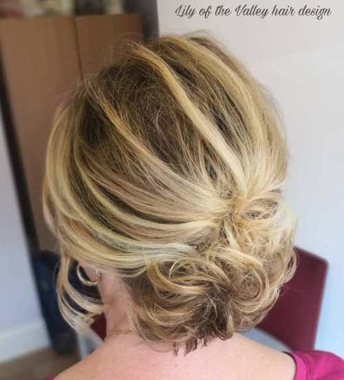 Over Years Old Mother Of The Bride Chignon